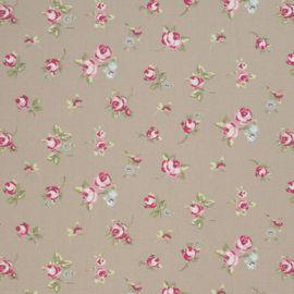 rosebud beige puuvillakangas