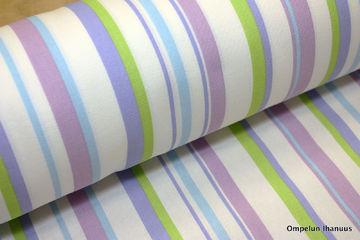 sorrento stripe violet puuvillakangas