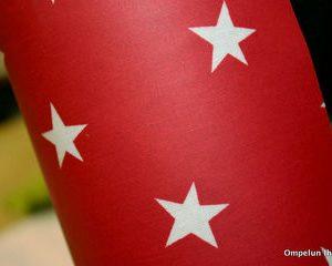 Tähti-vahakangas-punainen37