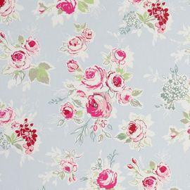 Ruusu puuvillakangas sky