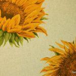 auringonkukat verhokangas