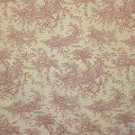 Maisema-roosa Puuvillakangas