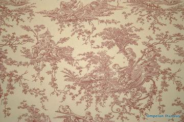 Maisema-roosa1 Puuvillakangas