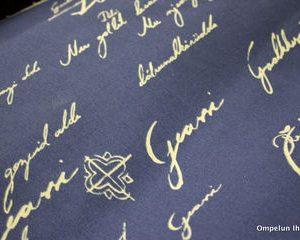Vuodenajat-sininen kangas