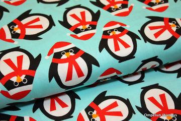 puuvillakangas pingviinit