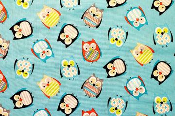 pöllöt puuvillakangas