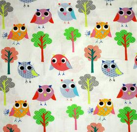 linnut puuvillakangas